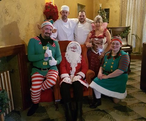 A tradition from 1944 revived on Saturday 2nd December 2017 with the return of 'Breakfast with Santa' every Saturday in December