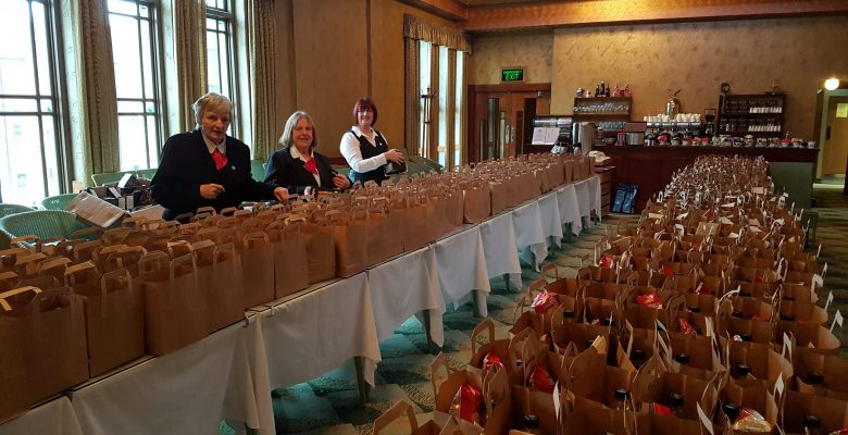 The glorious Plaza team expertly organising lunches for Conference Delegates - 14.01.18