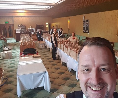 The Plaza conference team creating lunches for a packed house of fabulous delegates - 14.01.18