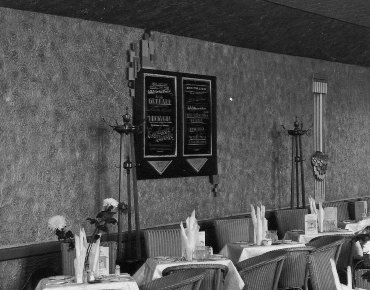 Cafe signage in situe on opening day October 7th 1932