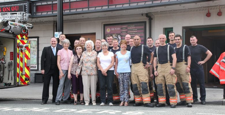 Plaza Team supporting Greater Manchester Fire Service on a training day at The Plaza - 21.07.16