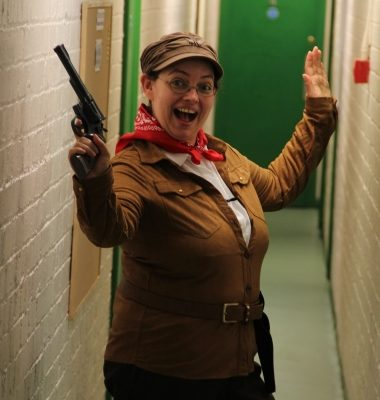 'Calamity Rosie!' - the Hostess with the Mostess getting into character to host 'Singalong With Calamity Jane'...Yee harrrr - 16.09.16