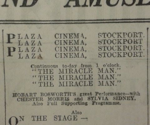 Manchester press advertisement for The Plaza featuring Lew Grade, Anna Roth and Violet Carson