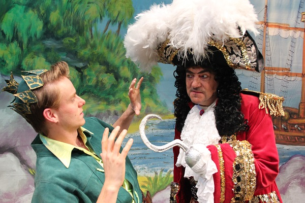 Webulated Full Length John Altman starring as Captain Hook in Stockport Plaza Pantomime
