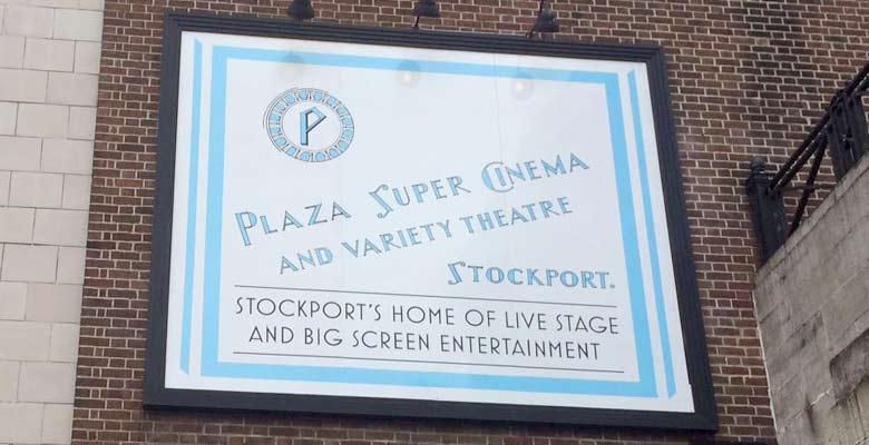 Plaza signage