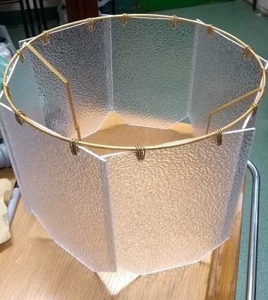 13 finished lampshade