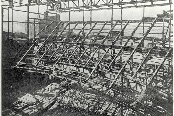 Extensive Framework of the Circle and Balcony under construction