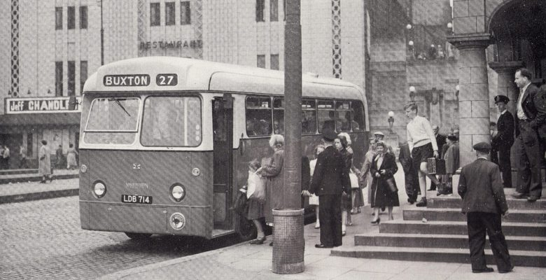 The bus terminus in the late 1950s