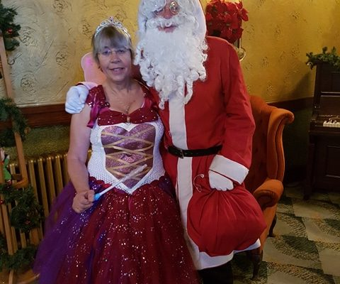 Fairy Tinkerbell and Santa Claus at Breakfast with Santa