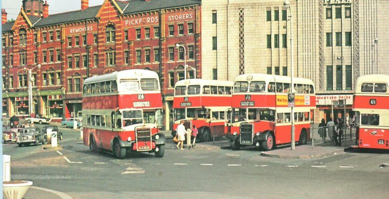 The Plaza with a busy time at the Bus Terminus outside her front doors