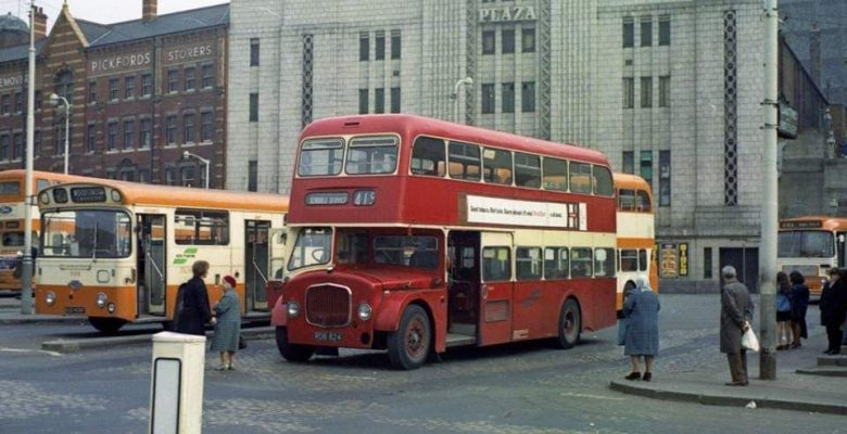 The Plaza during her Mecca Bingo years with the bus terminus outside her front doors.