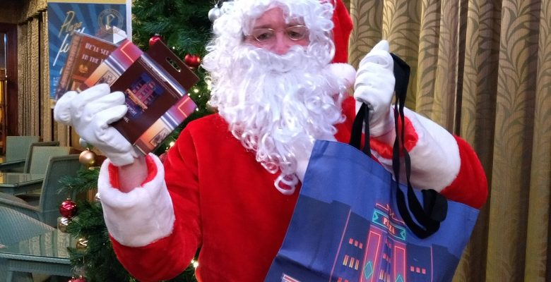 Father Christmas pops in to remind everyone that the last day for Plaza Merchandise sales before Christmas is on Wednesday 16th December 2020 - 15.12.20