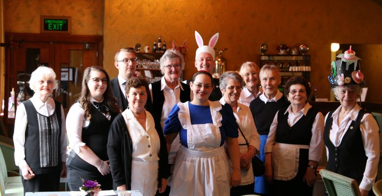 The Plaza team waiting to welcome their guests at Everything Stops For Mad Hatters Tea - 17.03.19