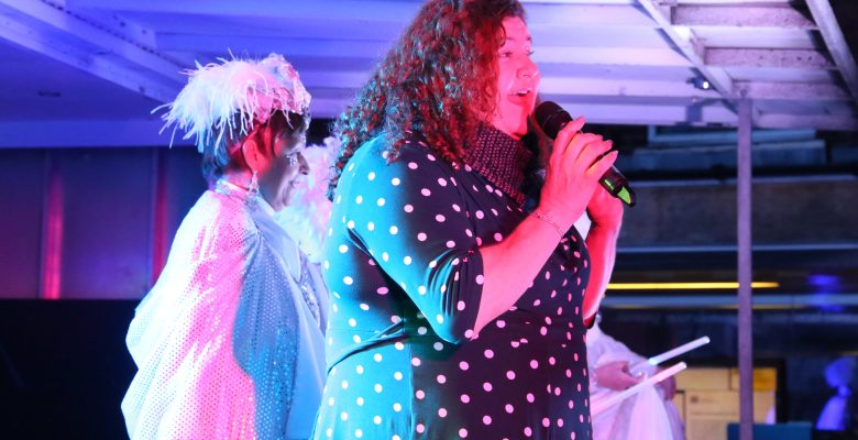 Cheryl Fergison and the Panto Plazarettes turning on the Bramhall Christmas Lights - 01.12.19