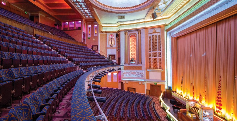 Plaza auditorium following restoration of Circle and replica seating in 2014