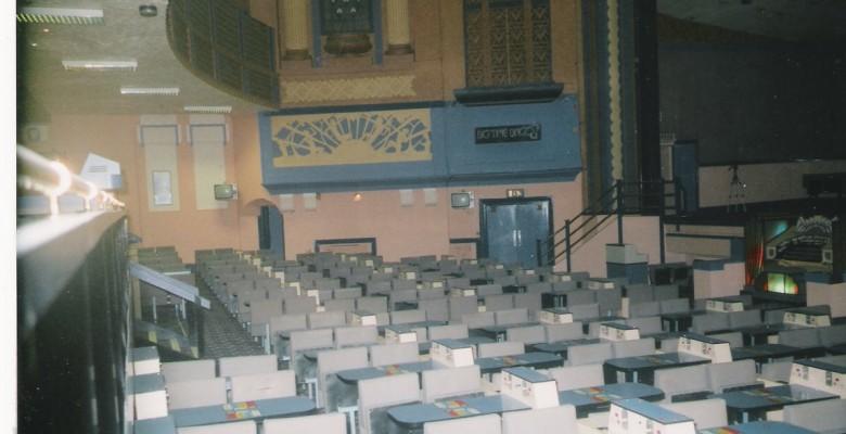 Plaza auditorium with Mecca bingo seating in situe pre restoration