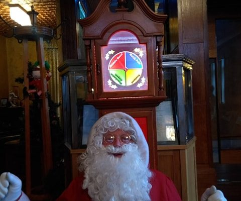 Santa Claus enjoying his Breakfast and Brunch with all the good Boys and Girls of Stockport and beyond - 14.12.19