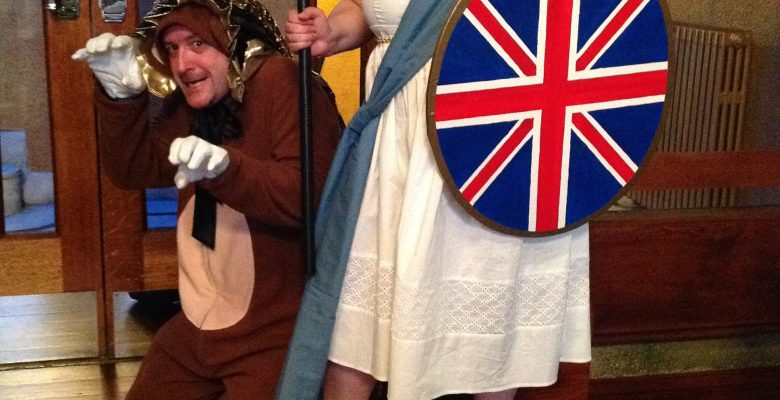 Everything Stops for St Georges Day Tea with Britannia and the Ferocious (or is that Cowardly!) Lion - 26.04.14