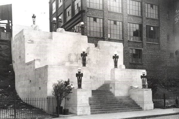The newly built Plaza Steps prior to the building of The Plaza