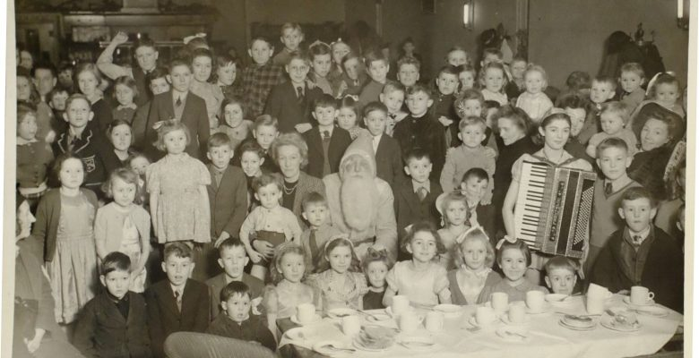 A festive party with Father Christmas in The Plaza Cafe in 1944
