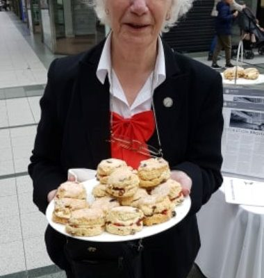 Everlyn with scones...who could ask for anything more :) - 08.06.19